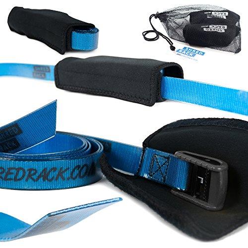 Shred Rack JawStrap TPU 2-Set Lashing Strap/Tension Belt, 2m Blue