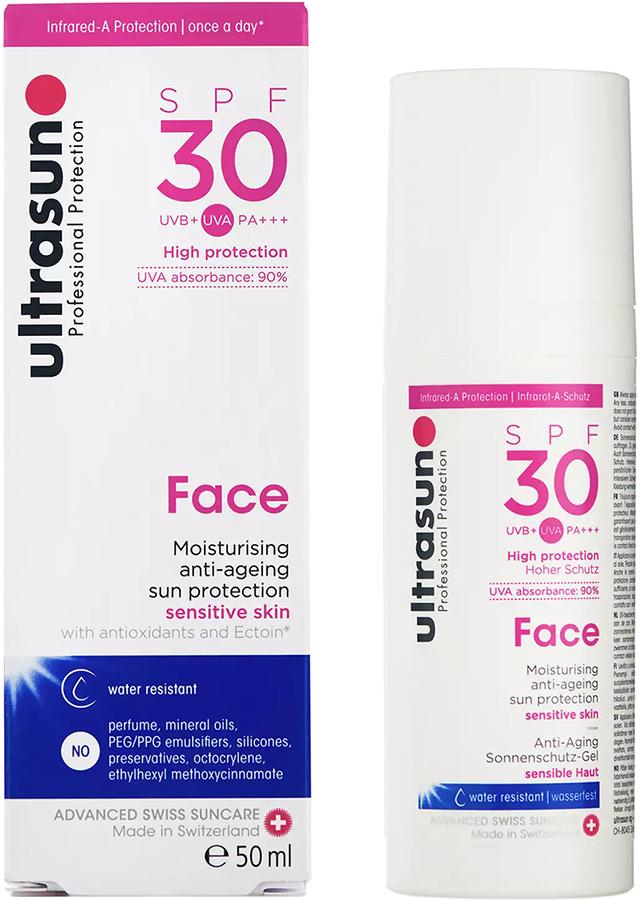 Ultrasun Face Sunscreen SPF 30 Moisturiser Anti-Ageing Lotion, 50ml