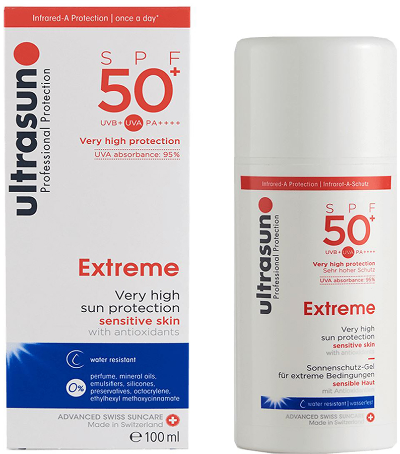 Ultrasun Extreme Sunscreen SPF 50+ Sensitive Skin Gel Lotion, 100ml