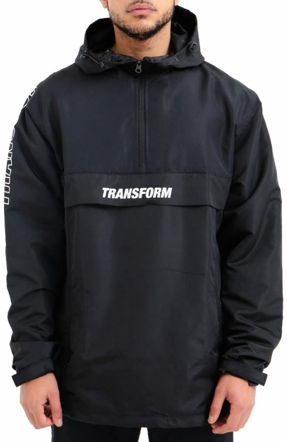 Transform Fast Text Windbreaker Ski/Snowboard Anorak, XL Black