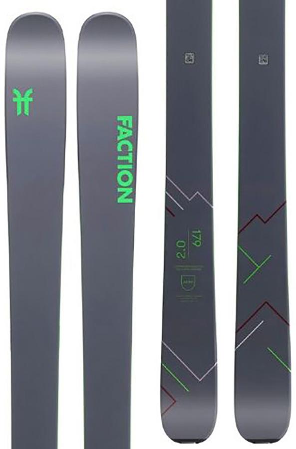 Faction Agent 2.0 Ski Only Skis, 179cm Grey/ Green 2020