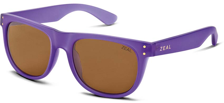 Zeal Ace Sunglasses Deep Purple Copper