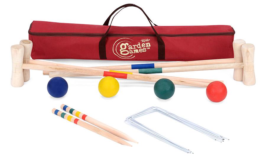 Toyrific Garden Games Croquet Mallet, Hoop, And Ball Set