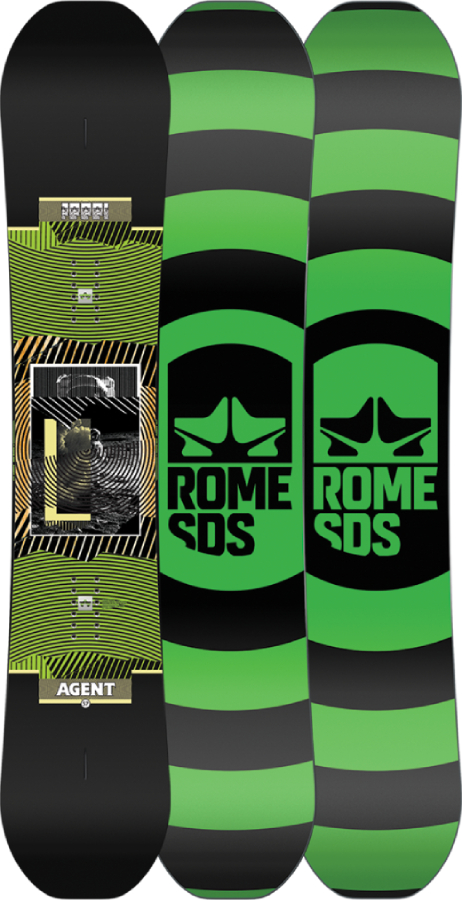 Rome Agent Positive Camber Snowboard, 154cm 2021