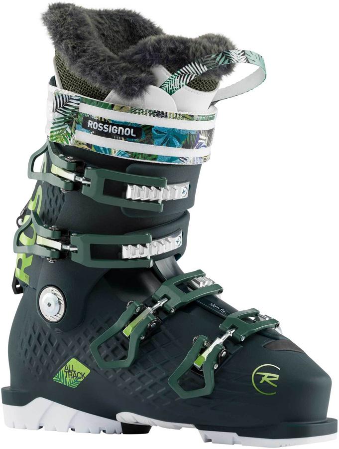 Rossignol Alltrack Pro 100 W Womens Ski Boots, 23/23.5 Dark Green 2021