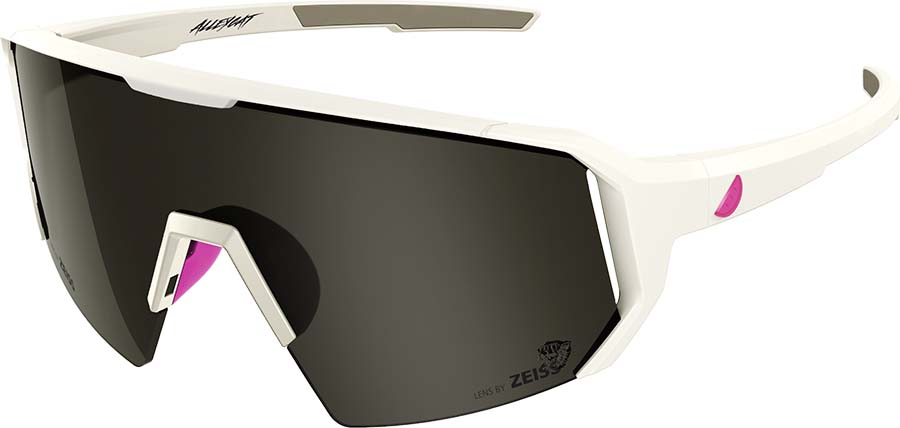 Melon Alleycat Smoke Performace Sunglasses, White/Neon Pink