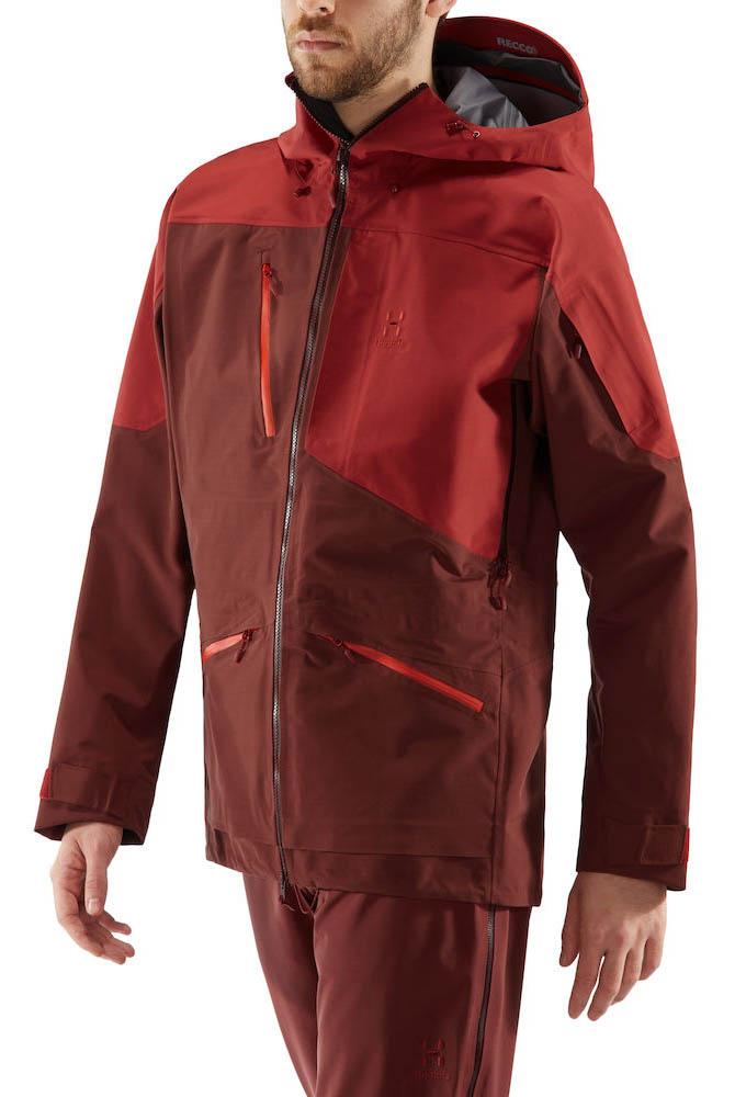 Haglofs Nengal 3L PROOF Ski/Snowboard Parka Jacket, M Maroon/Brick Red