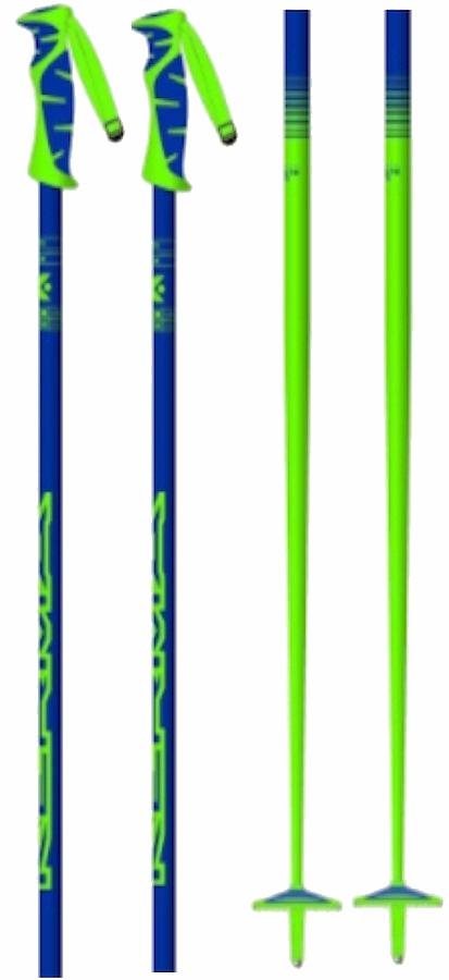 Kerma Vector Box Pair Of Ski Poles, 125cm Blue