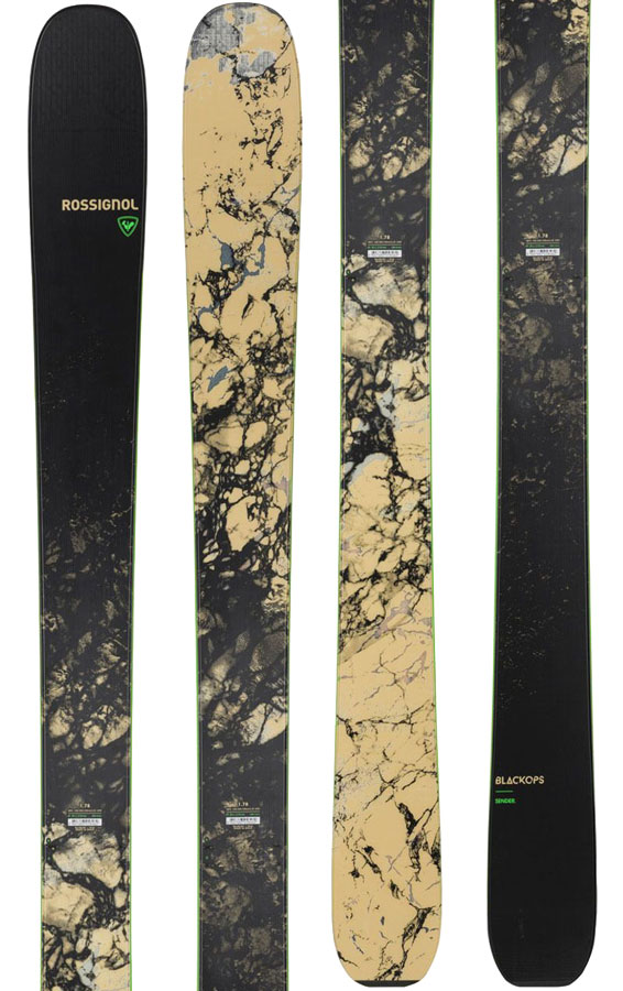 Rossignol Blackops Sender Ski Only Skis, 172cm Black/Beige