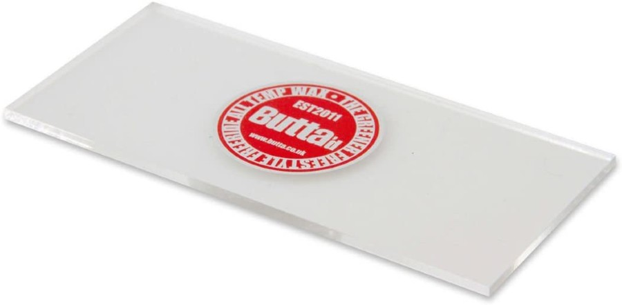 Butta Clear Plastic Snowboard Wax Scraper, Small Clear
