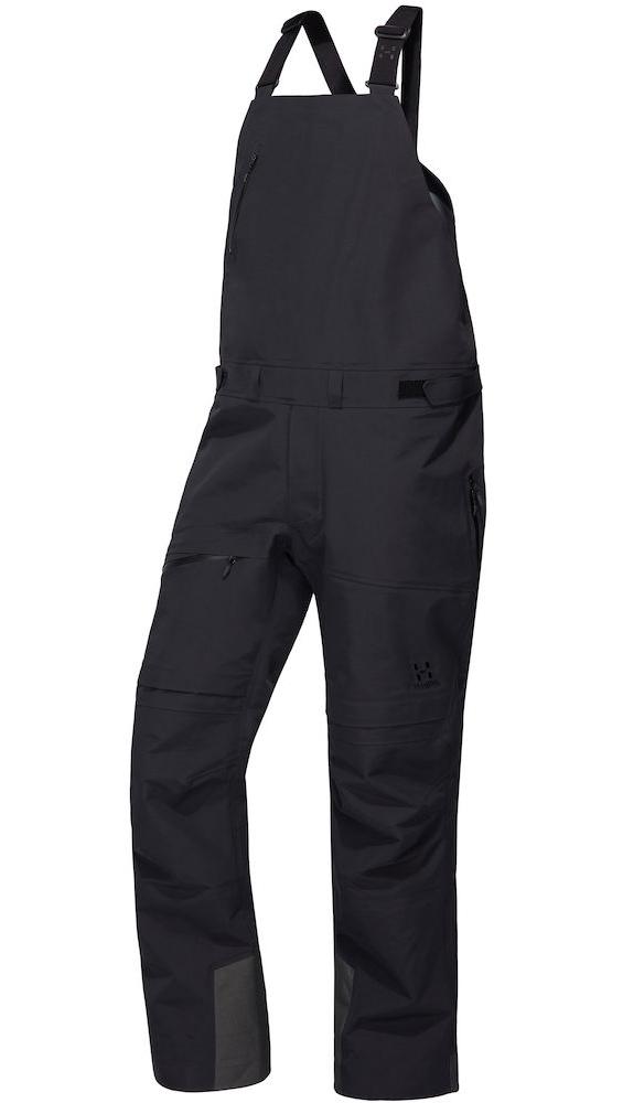 Haglofs Nengal 3L PROOF Snowboard/Ski Bib Pants, L True Black