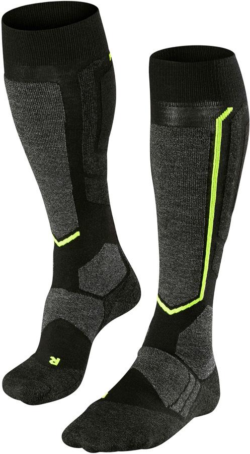 Falke SB2 Merino Wool Snowboard Socks UK 11-12.5 Black-Mix