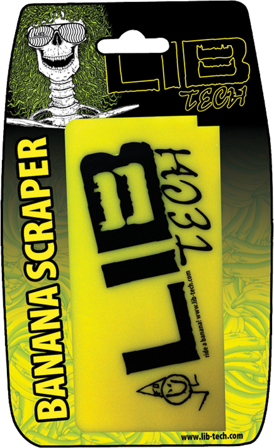 Lib Tech Banana Ski/Snowboard Wax Scraper Yellow