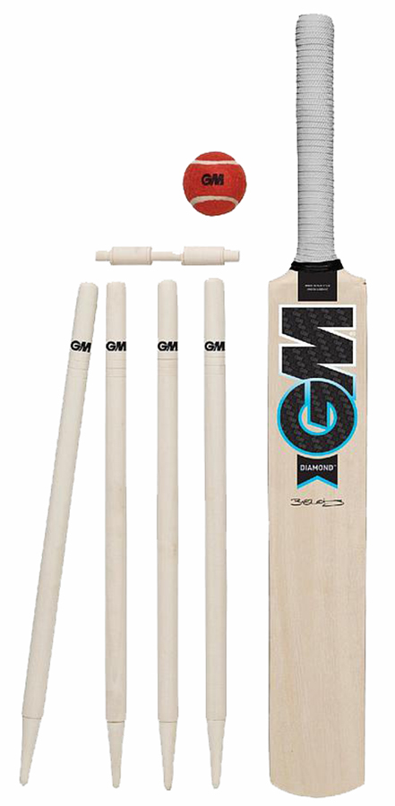 GM Diamond Garden Cricket Set, Bat Size 3 Natural