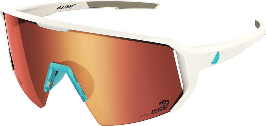 Melon Alleycat Red Chrome Performace Sunglasses, White/Turquoise
