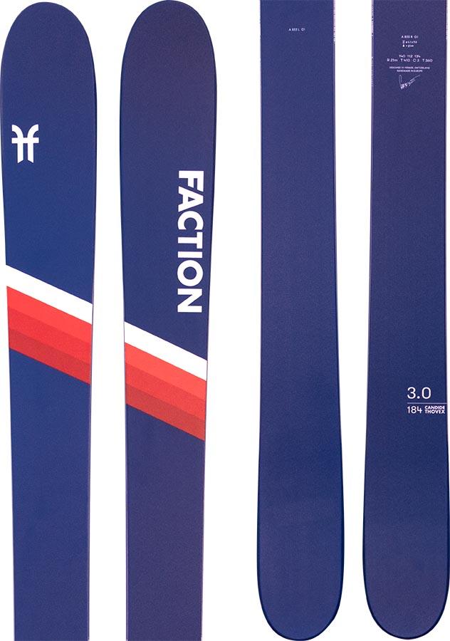 Faction Candide 3.0 Ski Only Skis, 178cm Blue/Red 2021
