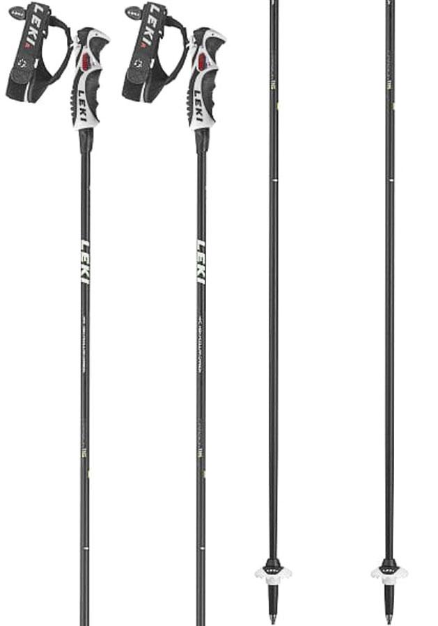 Leki Carbon 11 S Ski Poles, 110cm Black