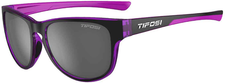 Tifosi Smoove Smoke Sunglasses, Onyx/Ultra Violet