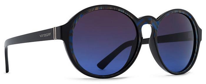 Von Zipper Lula Brown Blue Gradient Lens Sunglasses, Black Swirl