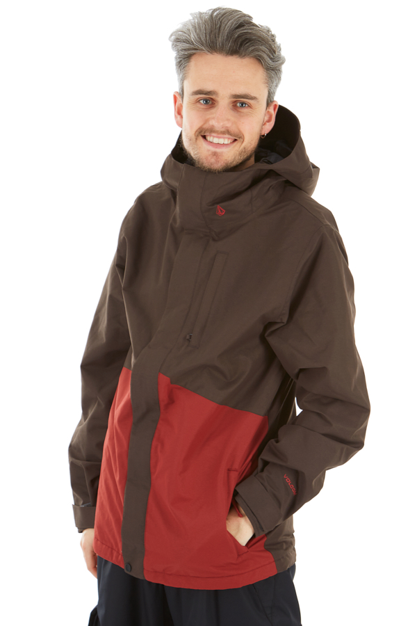 Volcom 17 Forty Insulated Ski/Snowboard Jacket XL Vintage Black