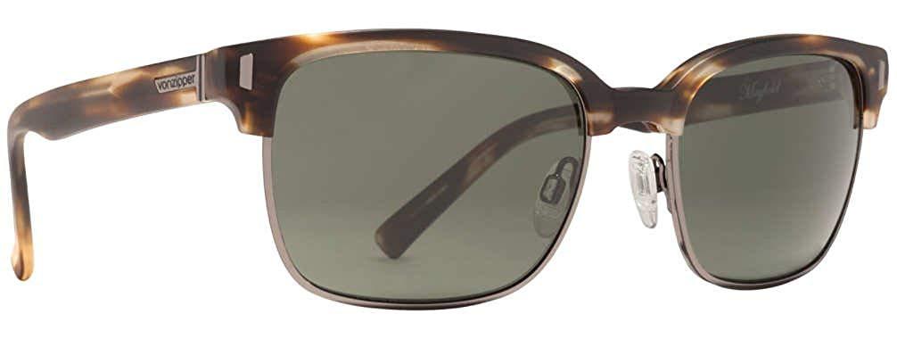 Von Zipper Mayfield Vintage Grey Lens Sunglasses, Tortoise Satin