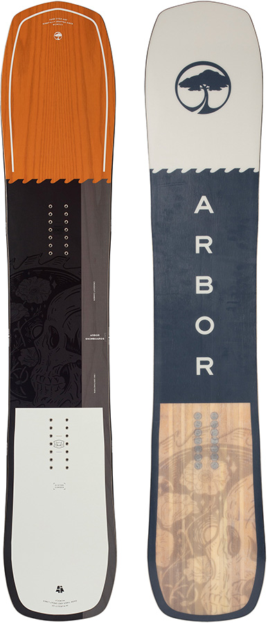 Arbor Crosscut Positive Camber Snowboard, 165cm Mid-Wide 2021