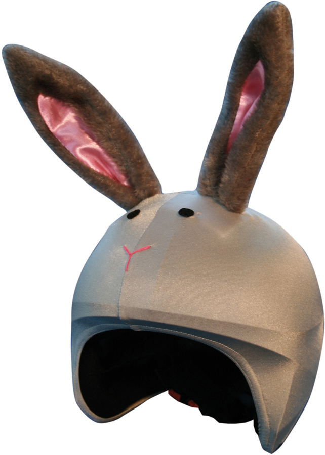 Coolcasc Animals Ski/Snowboard Helmet Cover, One Size, Bunny