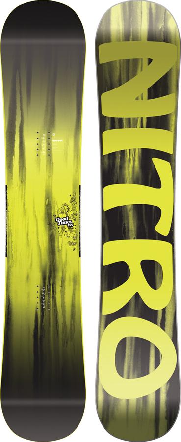 Nitro Good Times Hybrid Camber Snowboard, 155cm Wide 2019