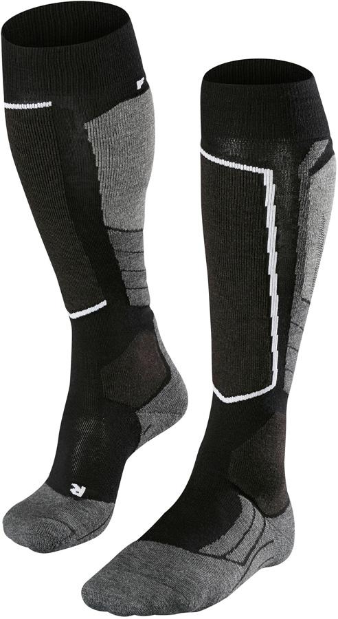 Falke SK2 Merino Wool Ski Socks, UK 8-9 Black-Mix