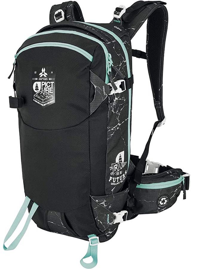 Arva Snow Safety Calgary Ski/Snowboard Backpack, 26L Black Marble