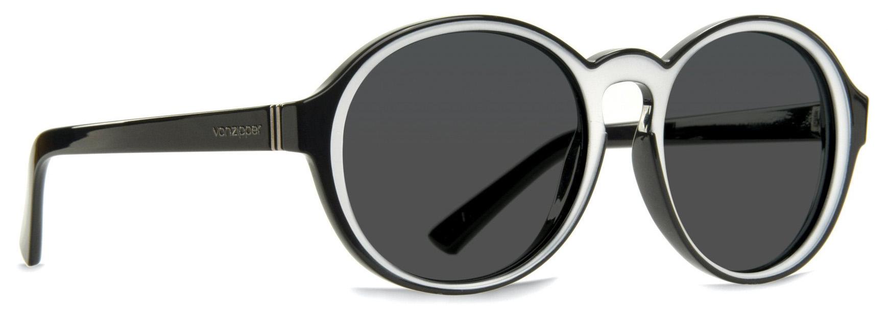 Von Zipper Lula Grey Lens Sunglasses, Black/White