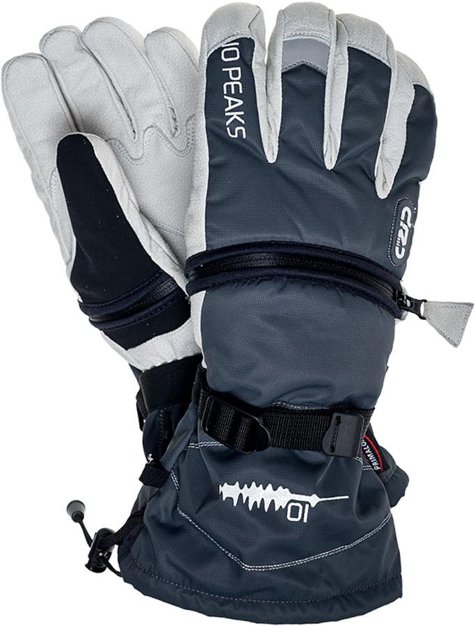 10 Peaks Mount Little Ski/Snowboard Gloves, XL Grey/White