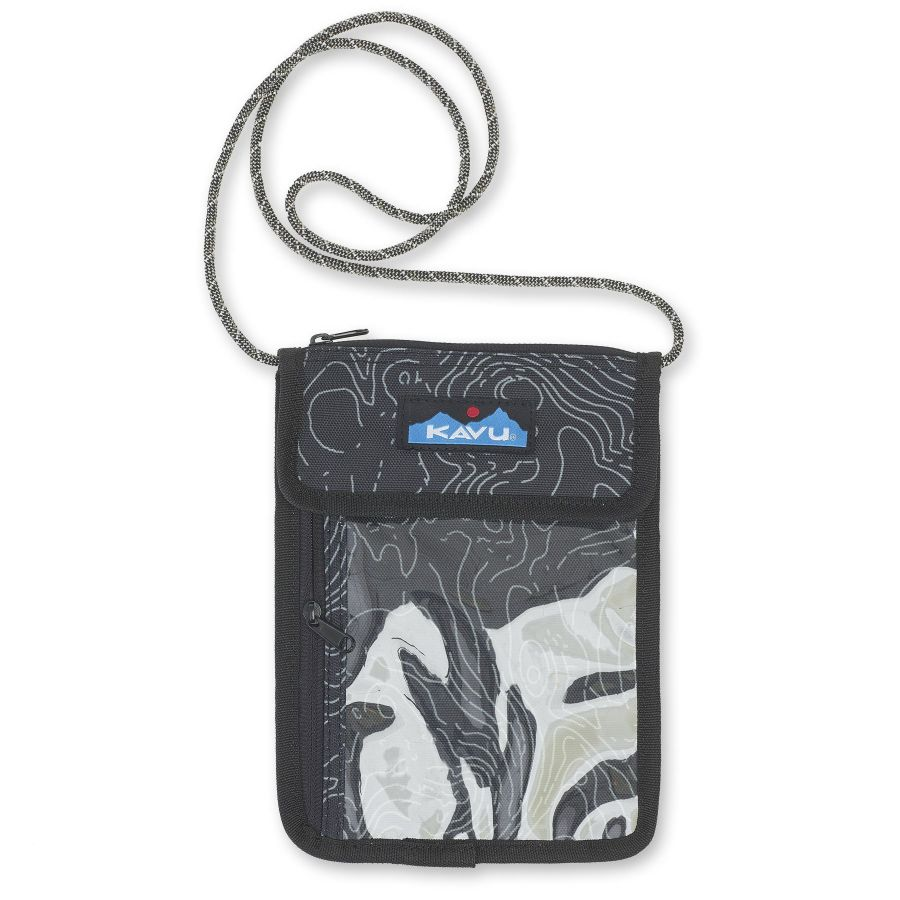 Kavu Keepitclose Neck Wallet/Passport Holder Black Topo