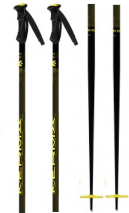 Kerma Vector Eco Pair Of Ski Poles, 115cm Yellow