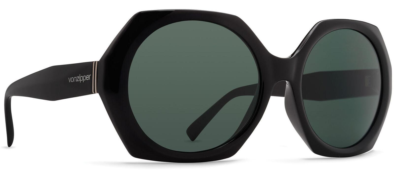 Von Zipper Buelah Vintage Grey Lens Sunglasses, Black Gloss