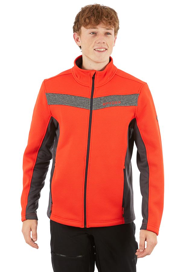 Spyder Encore Full-zip Fleece Jacket, L Volcano