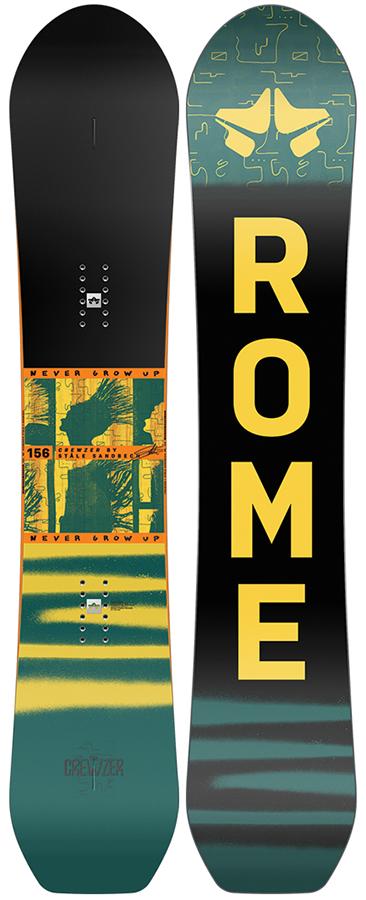 Rome Adult Unisex Stale Crewzer Hybrid Camber Snowboard, 156cm 2021