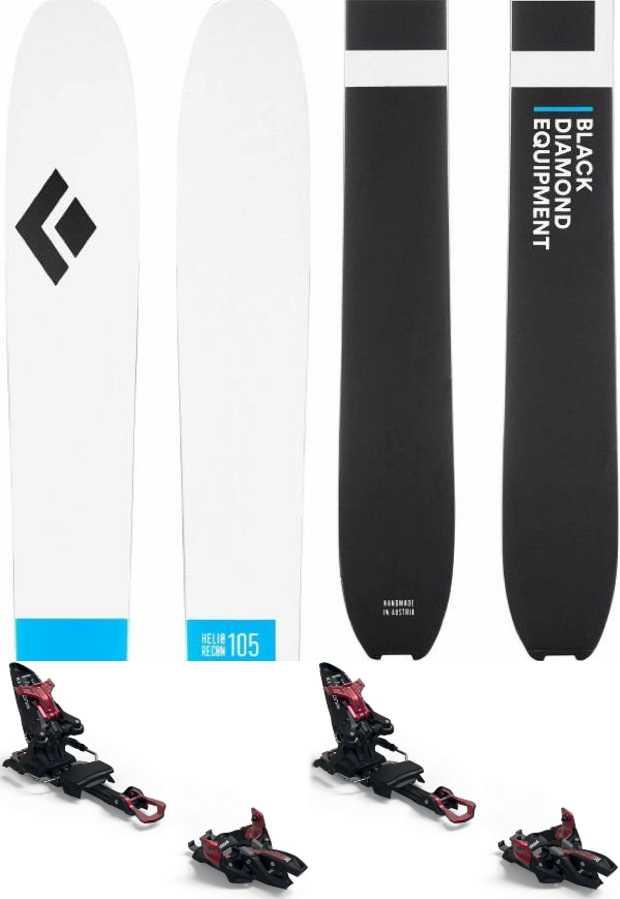 Black Diamond Helio Recon 105 Marker Kingpin 13 Skis, 175cm Blk/Wht 2021