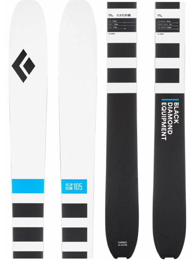 Black Diamond Helio Recon 105 Skis, 175cm Black/White