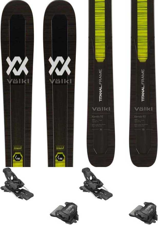 Volkl Kendo 92 Skis 170cm, Black/Yellow, Tyrolia Attack2 13 GW, 2020