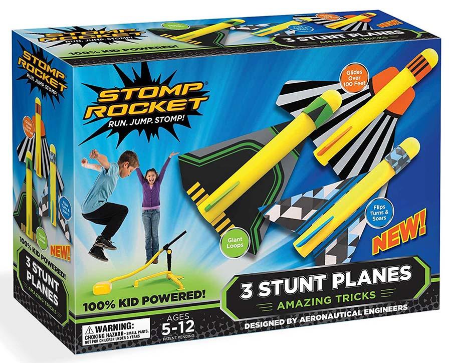 Stomp Rocket Stunt Planes Garden Toy, Yellow