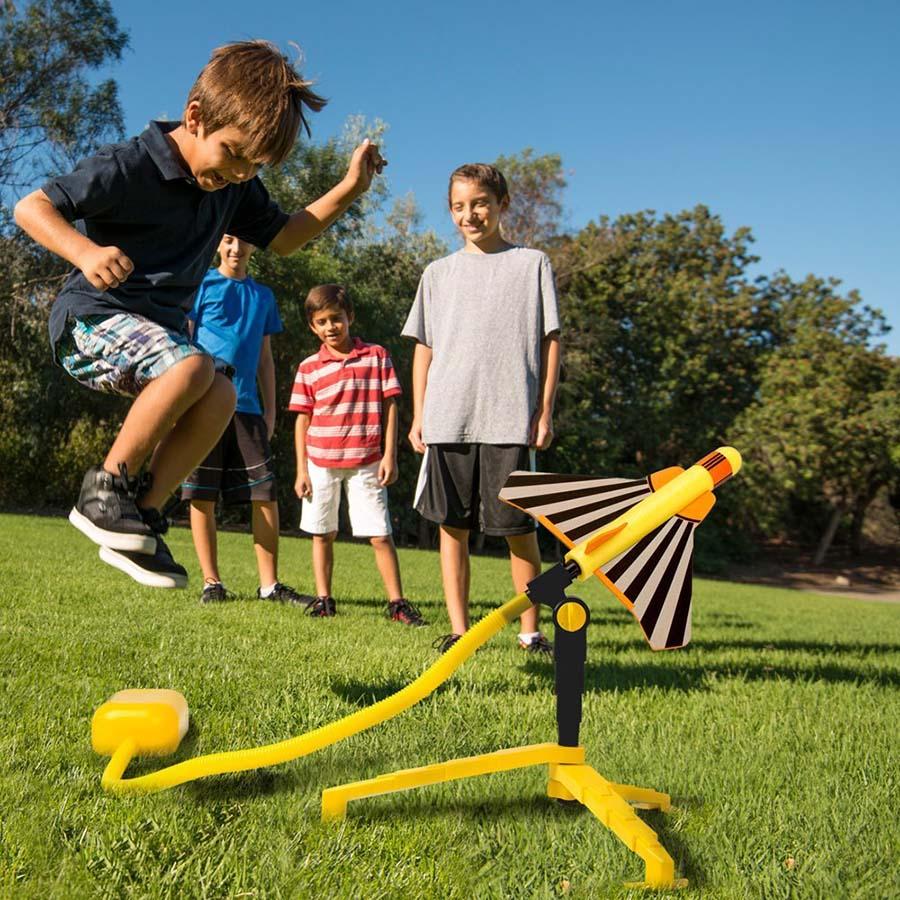 Stomp Rocket Stunt Planes Garden Toy, Age 5-12 Yellow