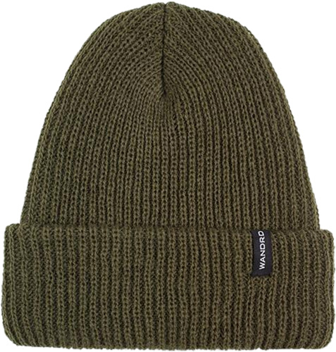 WANDRD Roadside Watch Cap Soft Knit Acrylic Cuffed Beanie, Green