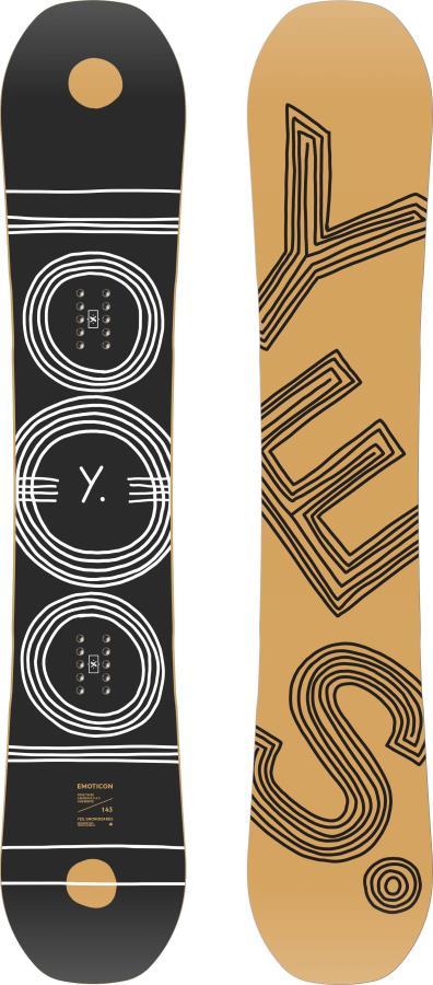 Yes. Emoticon Womens Hybrid Camber Snowboard, 149cm 2021
