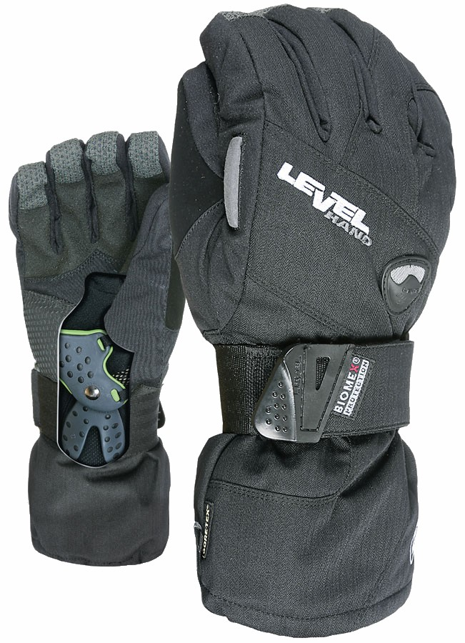 Level Half Pipe Gore-Tex Snowboard/Ski Gloves XXL Black