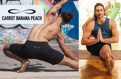 Men's yoga wear from Carrot Banana Peach